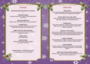 Christmas Day Menu 2019