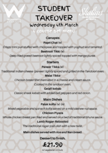 Student Takeover Menu